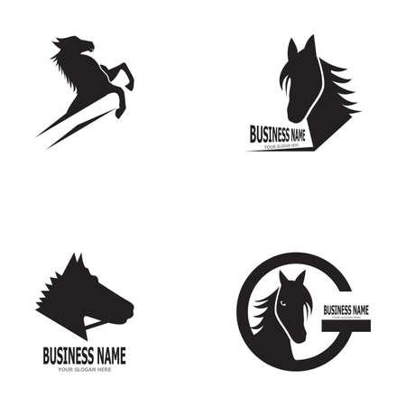 Horse logo vector template illustration