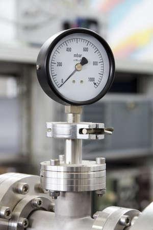 Manometer – precise instrument in laboratory, close up Stock Photo - 13345599