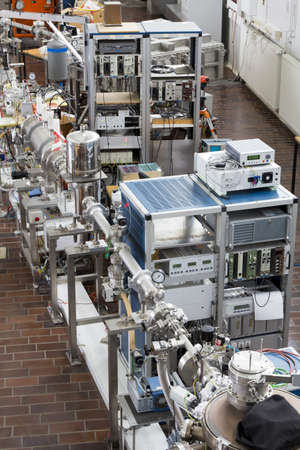 radioisotope: Interior of nuclear laboratory with important electronic  devices