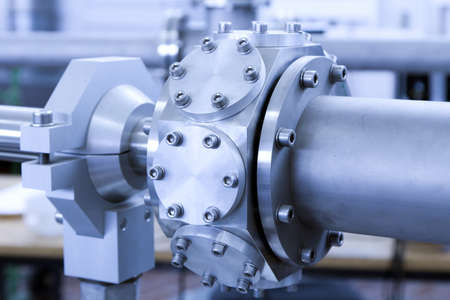 View of important electronic and mechanical parts of ION Accelerator, CNC machined parts Stock Photo - 13772940
