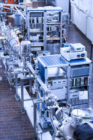 View of important electronic and mechanical parts of ION Accelerator,  photo