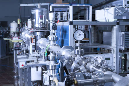 View of important electronic and mechanical parts of ION Accelerator,