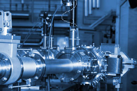 View of important electronic and mechanical parts of ION Accelerator, CNC machined parts