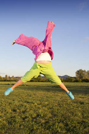 cheerfull: Two self jumping traditional asian colorful fishermans pants