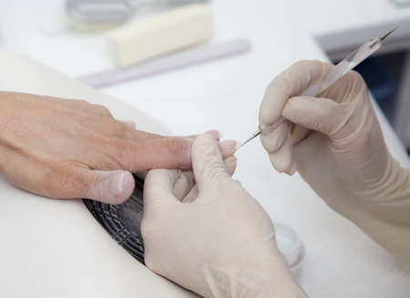 Making nail extension Stock Photo - 19609782