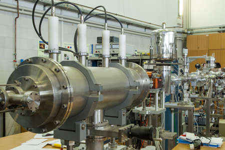 radioisotope: View of Important electronic and mechanical parts in ION Accelerator command room, CNC machined parts