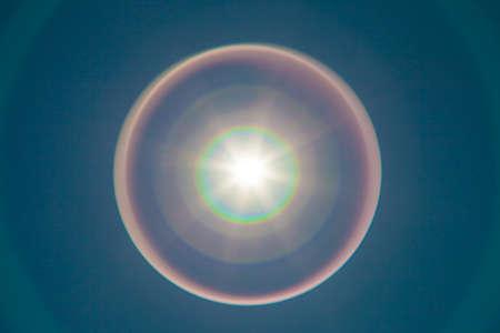spotless: Solar lens flare with beautiful rainbow