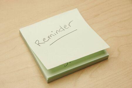 reminder sticky