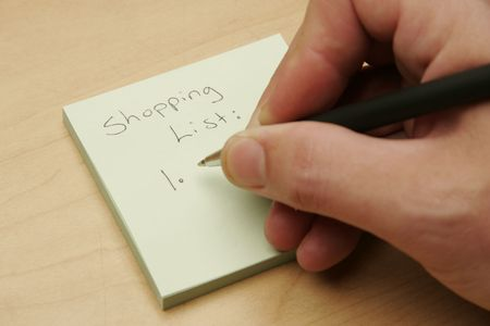 shopping list Banco de Imagens - 238012