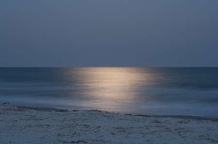night exposure of ocean