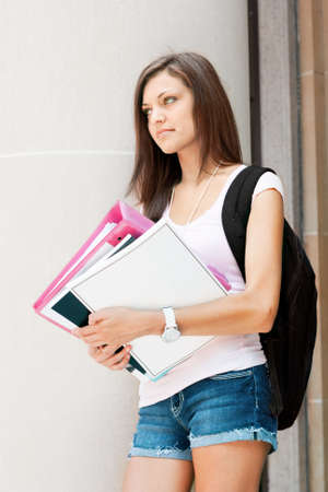 an attractive young student ready for class Stock Photo