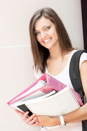 an attractive young student ready for class Stock Photo - 10159987