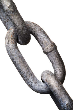 isolated metal chain links 版權商用圖片