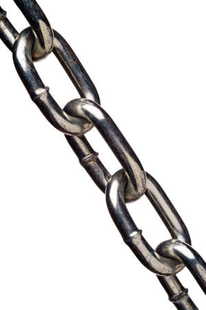 isolated metal chain links Stock Photo