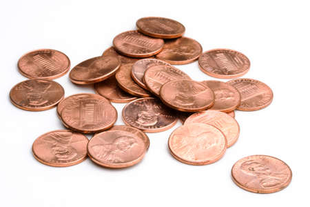 US pennies Stock Photo