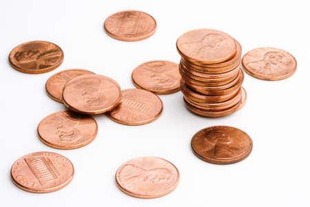 US pennies Stock Photo