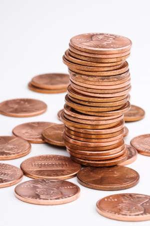 pennies: US pennies Stock Photo