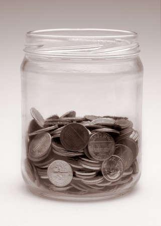 jar of US coins