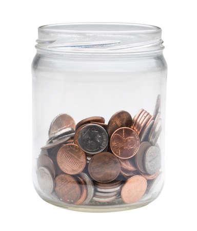 jar of US coins photo