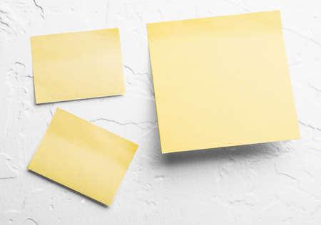 yellow sticky notes Banco de Imagens - 10759547