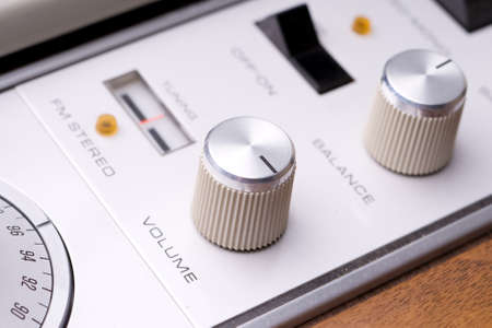 vintage stereo dials Imagens