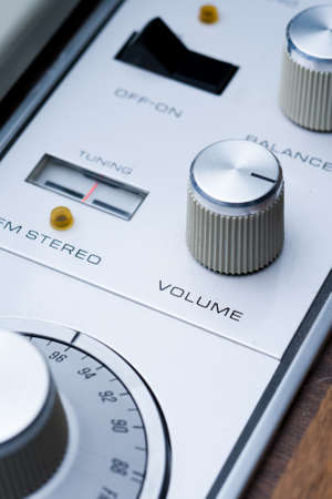 vintage stereo dials Stock Photo