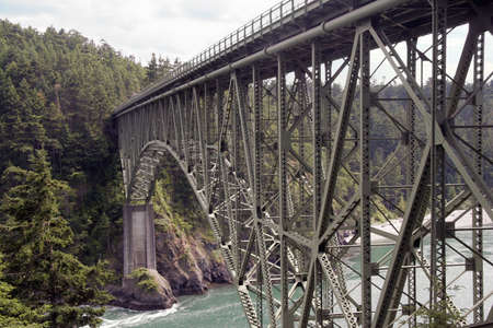 The bridge at Deception Pass, Washington, USA Stock Photo - 10911174