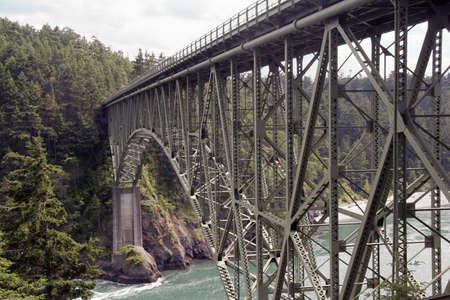 The bridge at Deception Pass, Washington, USA Stok Fotoğraf