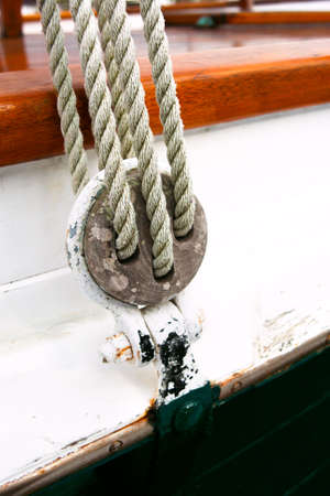 old sailboat rigging Stock Photo