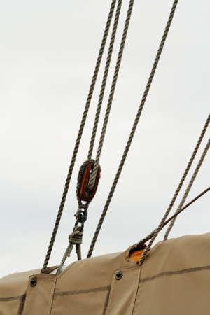 rigging: sail rigging Stock Photo