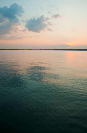 sunset at Lake Murray, SC Imagens - 10911154