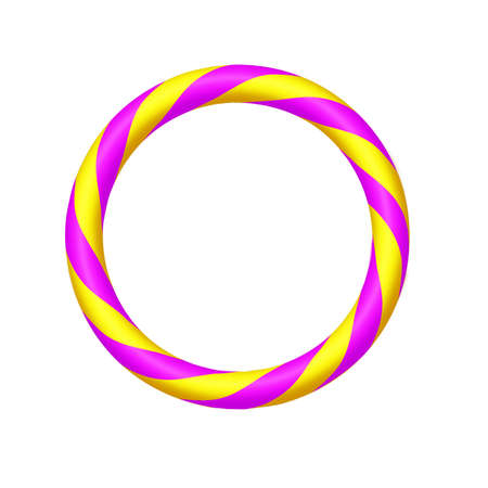 Circus twist circle ring with white background
