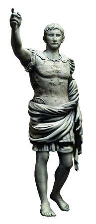 roman fighter person statue photo