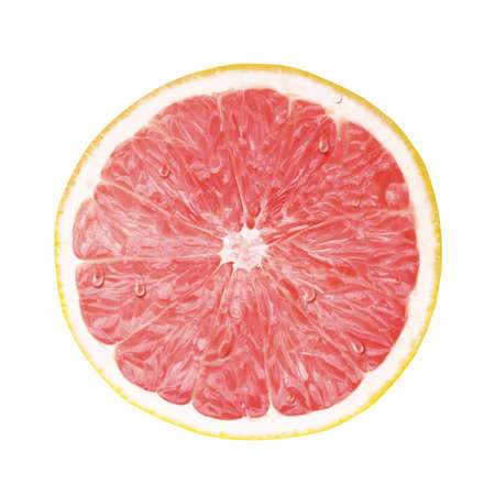 pomelo: juicy fresh cross section, transection of pomelo, grapefruit with whtie background