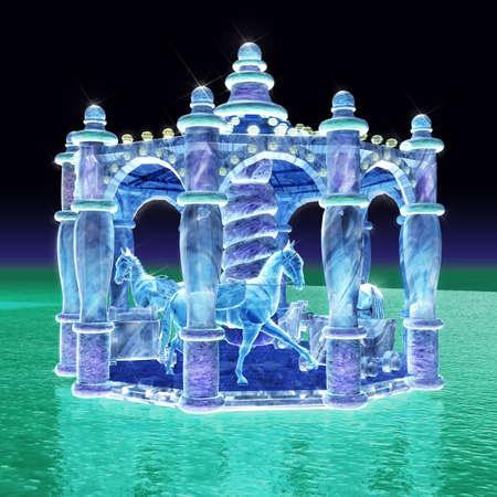 *Concurso*: Alfeix Club: The Black Diamond 14602133-representacion-3d-de-merry-go-round-de-la-escultura-de-hielo-con-el-fondo-concisa