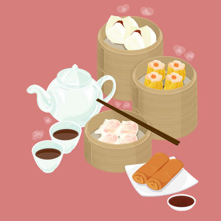 bao: A illustration of Chinese dim sum