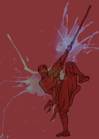 Chinese martial arts-Kung fu Stock Photo