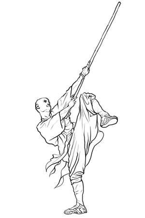 taiji: Chinese martial arts-Kung fu Stock Photo