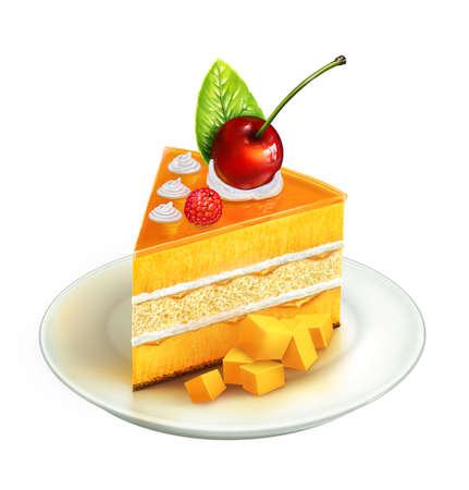 gateau: Piece of cake, illustration