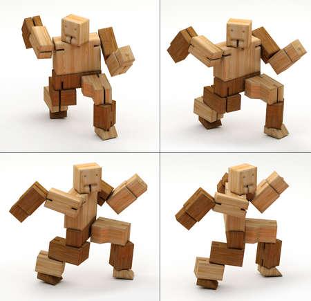 3DIllustration- 3D Rendering of wooden toys Stockfoto - 126712909