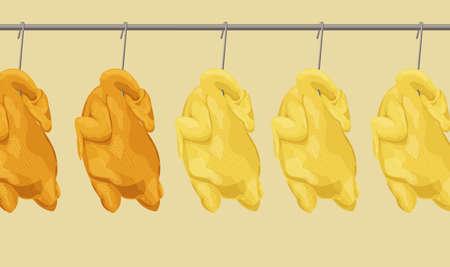 Illustration of Hong Kong style roasted chicken 版權商用圖片
