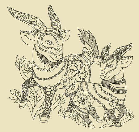 A illustration of traditional Chinese Pattern and Drawing