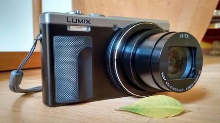 Hannover, Germany, 9th April 2016. Closeup illustrative editorial shot of the Panasonic Lumix TX-81 camera in a natural surrounding. Editorial
