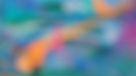 Abstract blurry light background pattern with orange glow in blue shiny surrounding