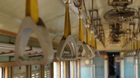 Support Straps in Train in Thailand