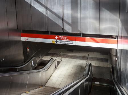 subway entrance: subway entrance in Helsinki Finland