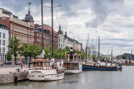 helsinki: Helsinki seaside view on cloudy summer day