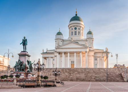 engel: Helsinki Cathedral on early morning sun light