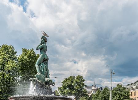 amanda: Havis Amanda Statue on Helsinki Market Square Stock Photo