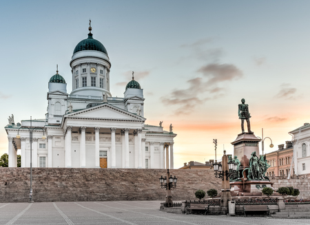 engel: Helsinki Cathedral on early morning sunrise